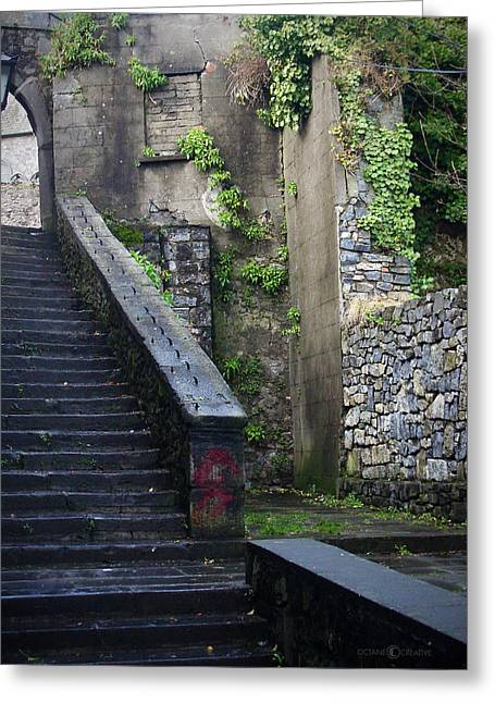 Cathedral Stairs Greeting Card