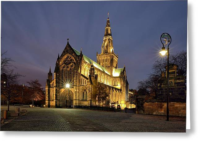 Cathedral Twilight Greeting Card