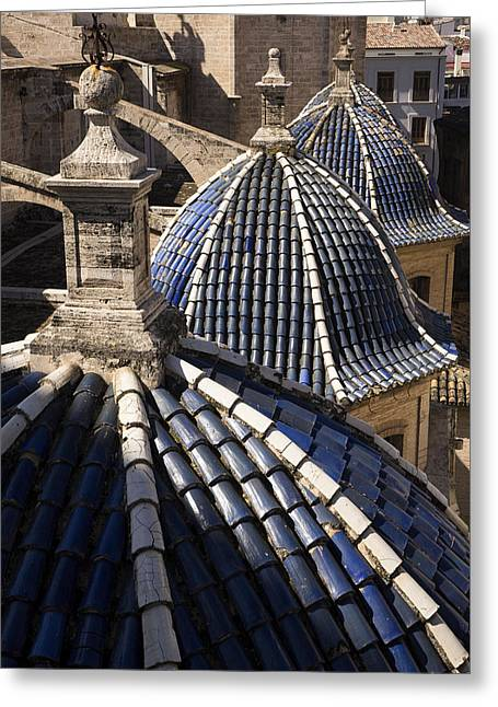 Cathedral Valencia Side Domes Greeting Card