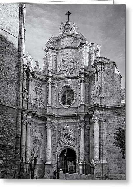 Cathedral Valencia Spain Greeting Card by Joan Carroll