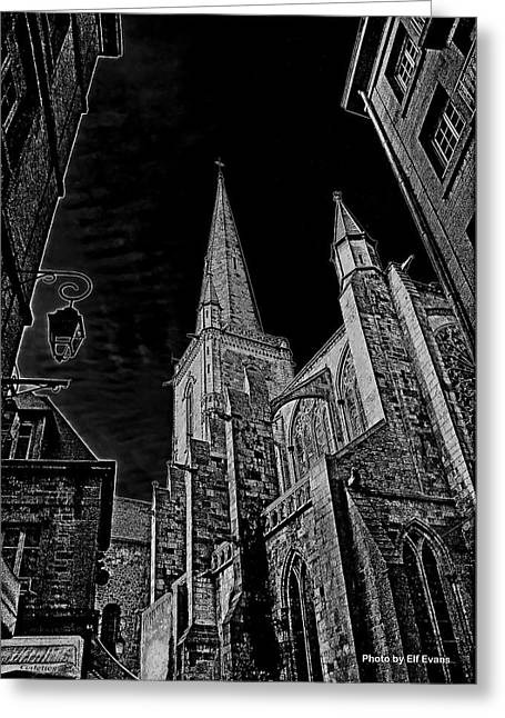 Greeting Card featuring the photograph Cathedrale St/. Vincent by Elf Evans