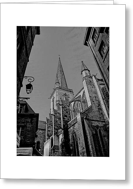 Greeting Card featuring the photograph Cathedrale St. Vincent  by Elf Evans
