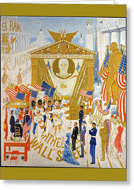 The Cathedrals Of Wall Street - History Repeats Itself Greeting Card by John Stephens