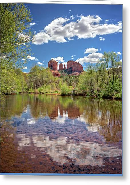 Catherdral Rock And Reflection - Sedona #2 Greeting Card by Jennifer Rondinelli Reilly - Fine Art Photography