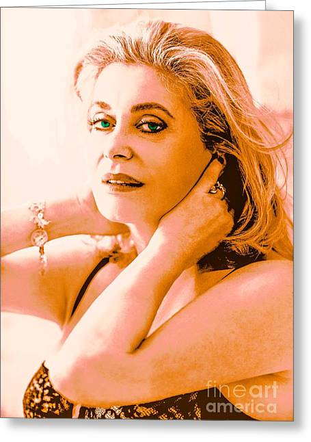 Catherine Deneuve  Greeting Card