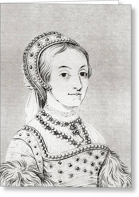 Catherine Howard C. 1520-1525 Greeting Card by Vintage Design Pics