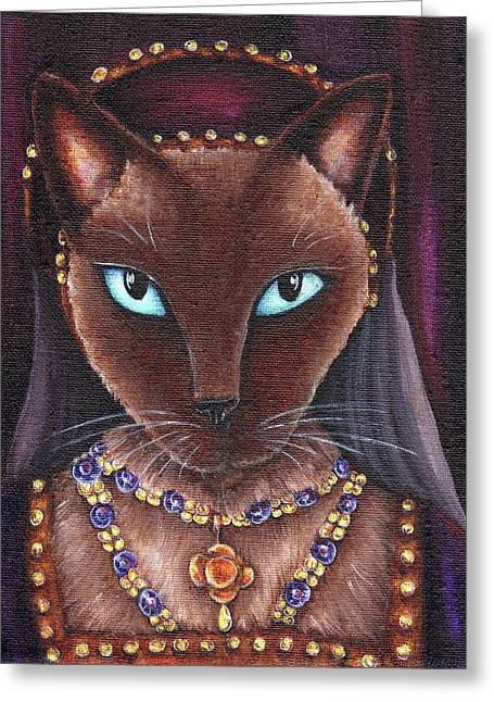 Catherine Howard Cat Greeting Card