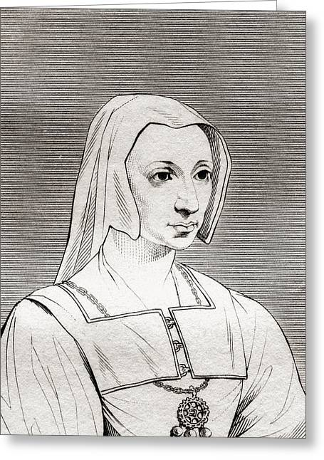 Catherine Of Aragon, 1485 Greeting Card by Vintage Design Pics