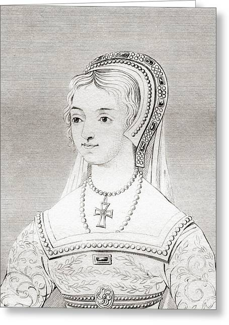 Catherine Parr, 1512 - 1548. Sixth Wife Greeting Card by Vintage Design Pics
