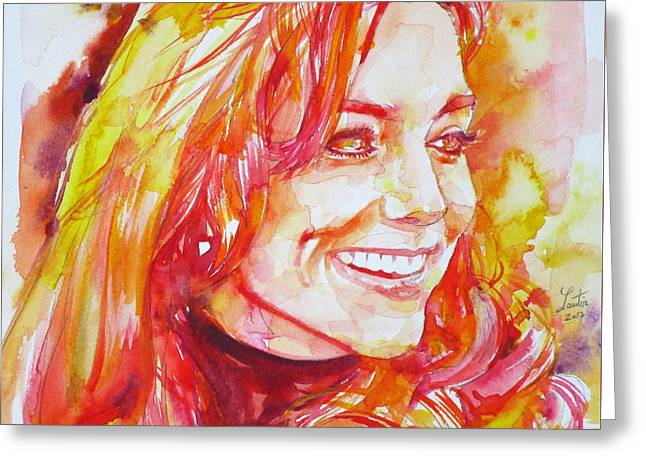 Catherine,duchess Of Cambridge - Watercolor Portrait.6 Greeting Card