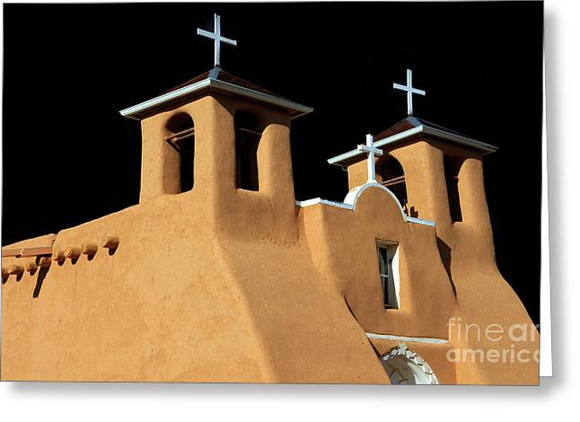 St Francis De Assi Church  New Mexico Greeting Card by Bob Christopher