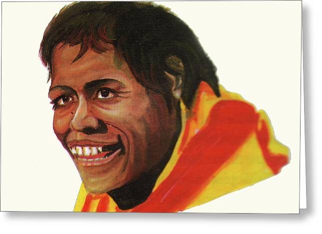 Emmanuel Baliyanga Greeting Cards - Cathy Freeman Greeting Card by Emmanuel Baliyanga