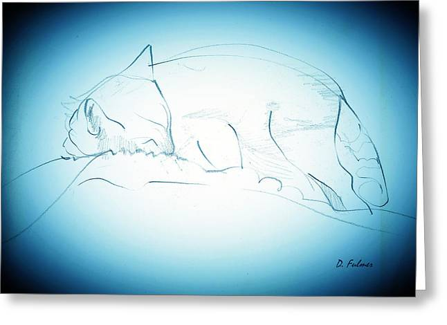 Catnap Greeting Card by Denise Fulmer