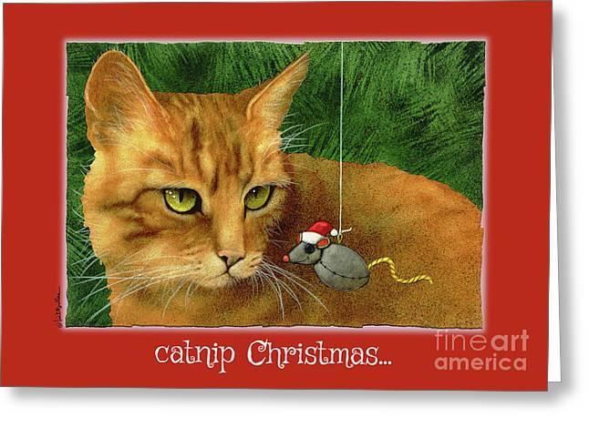 Catnip Christmas... Greeting Card