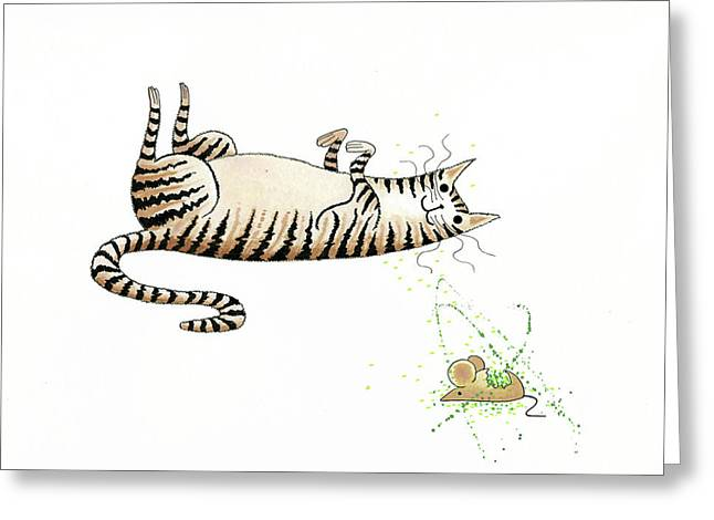 Catnipped  Greeting Card