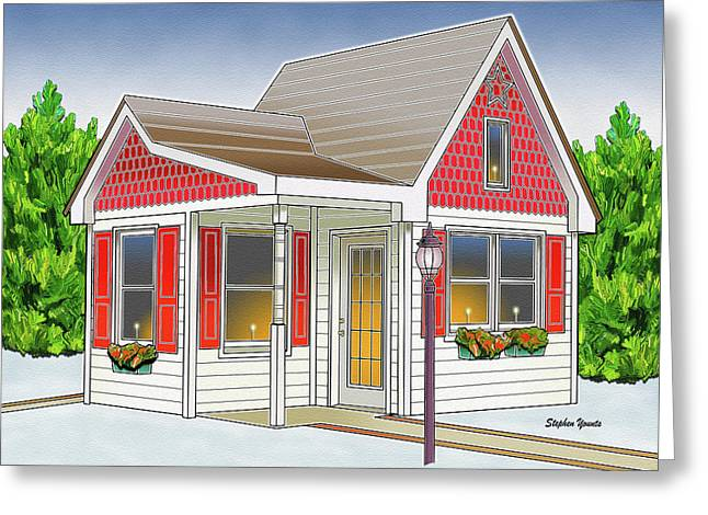 Catonsville Santa House Greeting Card by Stephen Younts