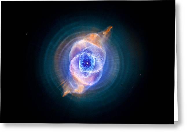 Cat's Eye Nebula Enhanced Greeting Card