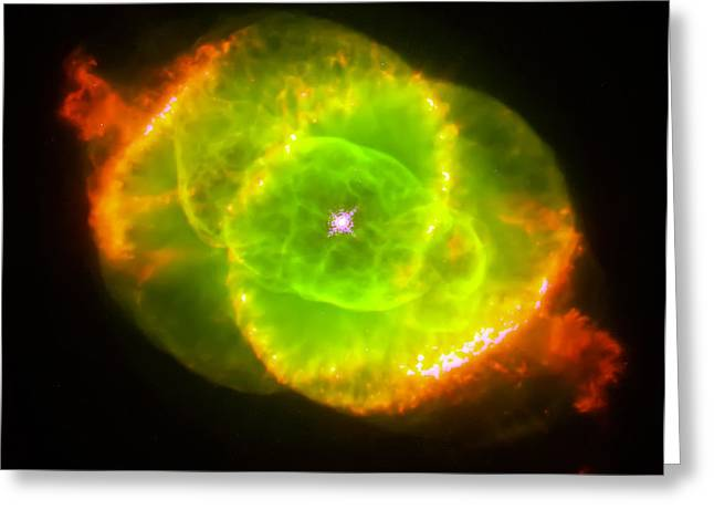 Cat's Eye Nebula Greeting Card by Jennifer Rondinelli Reilly - Fine Art Photography