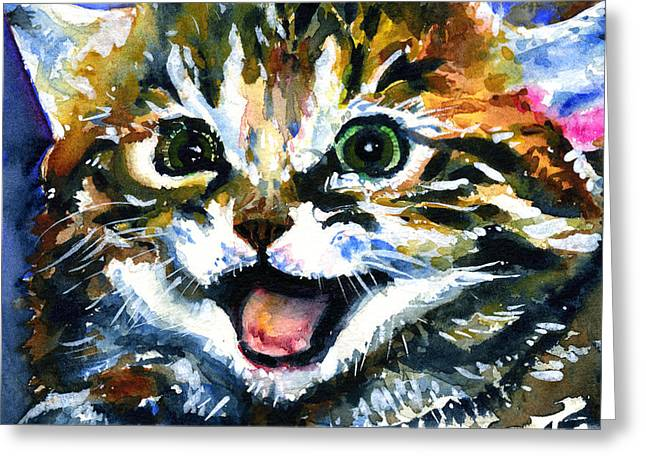 Cats Eyes 15 Greeting Card by John D Benson