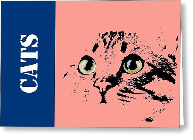 Cats Logo Greeting Card by Pablo Franchi