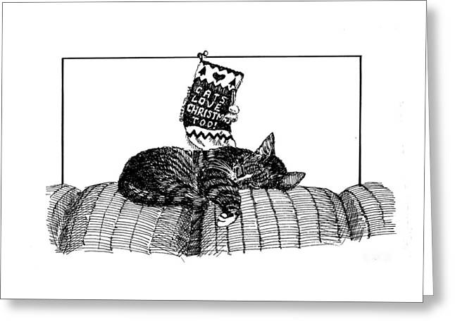 Cats Love Christmas Too Greeting Card