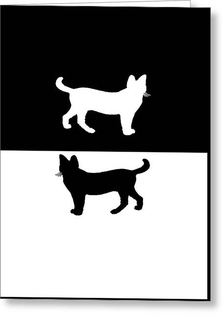 Cats Greeting Card by Mordax Furittus
