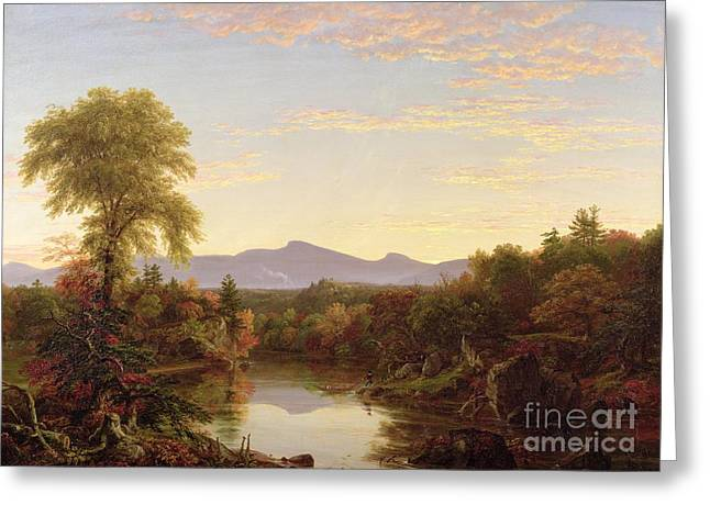 The Fall Greeting Cards - Catskill Creek - New York Greeting Card by Thomas Cole