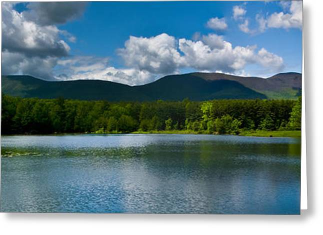 Greeting Card featuring the photograph Catskill Mountain Panorama by Louis Dallara