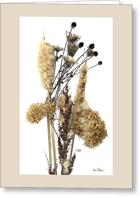 Cattails And November Flowers II Greeting Card by Lise Winne