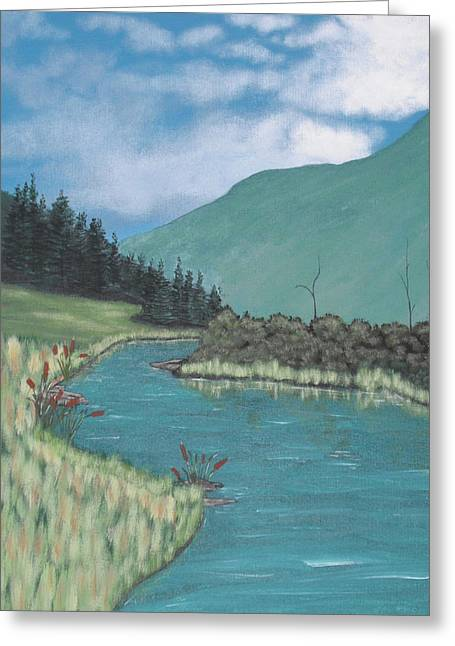 Cattails Greeting Card by Candace Shockley