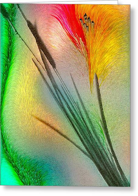 Cattails Greeting Card by Jean Gugliuzza