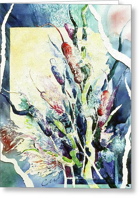 Cattails Two Greeting Card