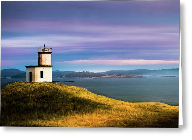 Cattle Point Lighthouse Greeting Card by TL Mair