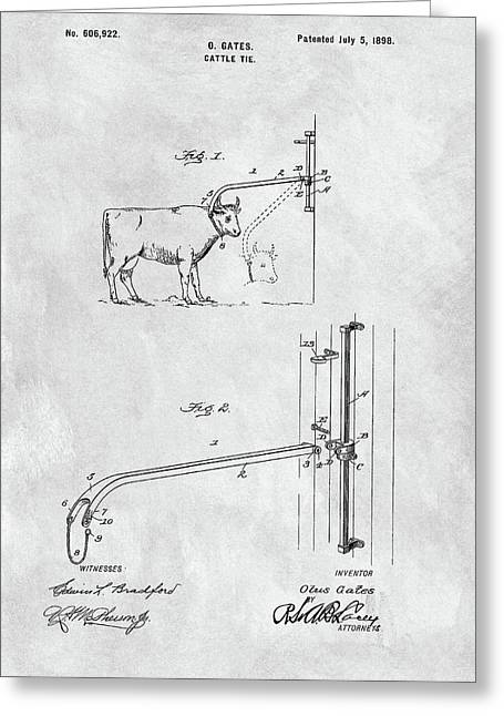 Cattle Tie Patent Greeting Card
