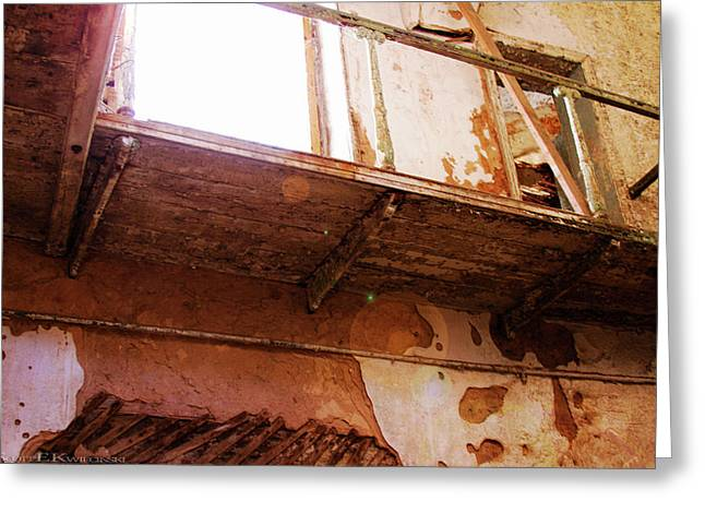Catwalk At Eastern State Penitentiary Greeting Card by Scott Kwiecinski