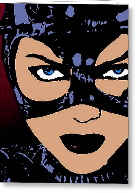 Catwoman-night Prowl-2 Greeting Card