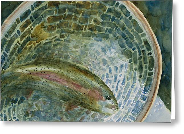 Caught For A Moment Greeting Card by Mary Benke