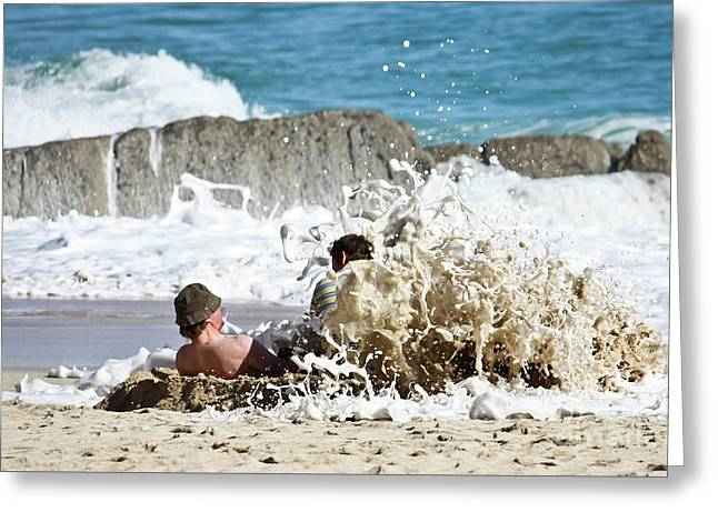 Greeting Card featuring the photograph Caught From Behind by Terri Waters