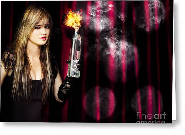 Caught In The Act Of Setting The Stage On Fire Greeting Card by Jorgo Photography - Wall Art Gallery