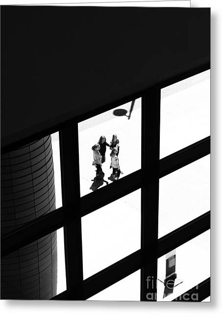 Caught In The Window Greeting Card by Robert Yaeger