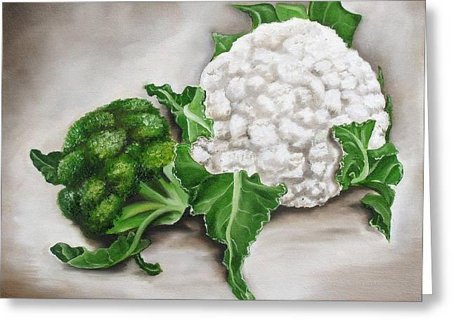 Cauliflower Greeting Card by Ilse Kleyn
