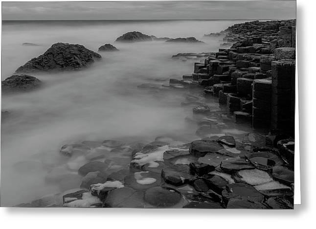 Causeway Stones Greeting Card by Roy McPeak