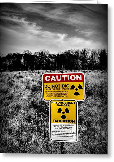 Greeting Card featuring the photograph Caution by Michaela Preston