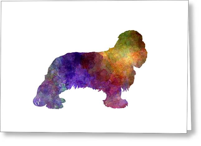 Cavalier King Charles Spaniel In Watercolor Greeting Card by Pablo Romero
