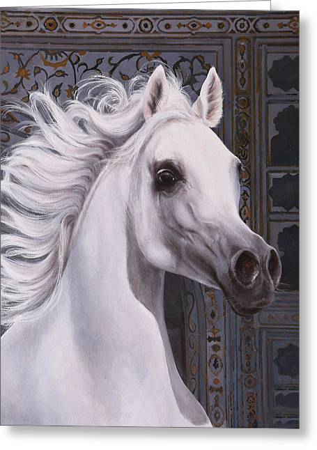 Cavallo A Punta Greeting Card