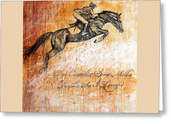 Cavallo Contemporary Horse Art Greeting Card