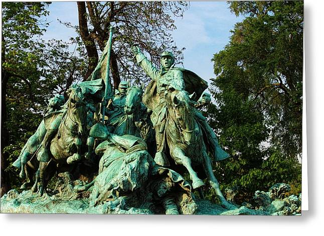 Cavalry Charge - Ulysses S. Grant Memorial Greeting Card by Glenn McCarthy