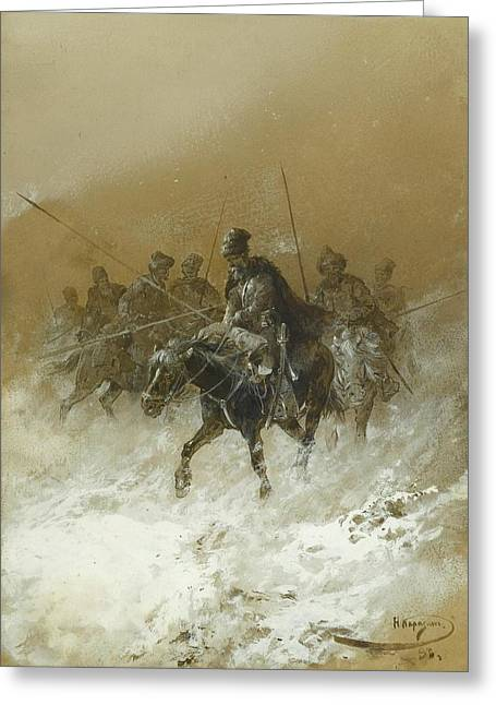 Cavalry In The  Campaign Greeting Card