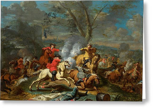 Cavalry Skirmish II Greeting Card by Celestial Images