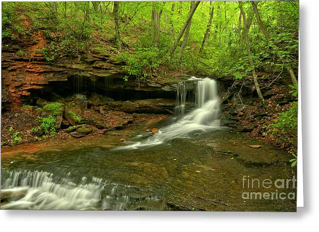 Cave Falls Of Somerset County Greeting Card by Adam Jewell